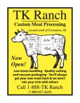 TK Ranch Custom Meat Processing