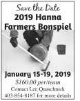 2019 Hanna Farmers Bonspiel