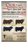 17th Annual SKOR SIMMENTALS Red & Black Bull Sale