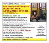 Junior Kindergarten & Kindergarten REGISTRATION & INFORMATION EVENING