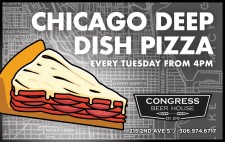 CHICAGO DEEP DISH PIZZA at Congress Beer House