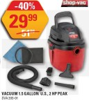 Shop-Vac VACUUM 1.5 GALLON U.S., 2 HP PEAK