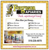 Ferguson APIARIES Fresh, unpasteurized honey!
