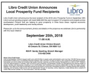 Libro Credit Union Announces Local Prosperity Fund Recipients